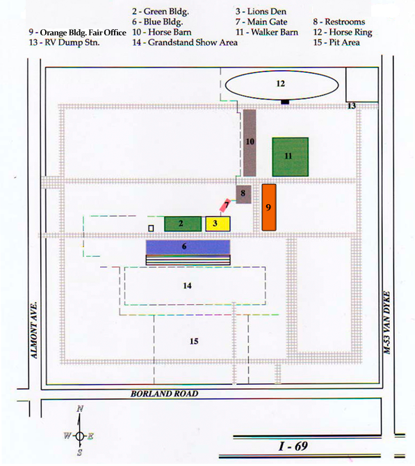 Fairgrounds Barn Layout Map